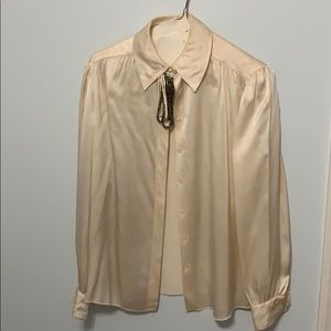 St. John cream blouse